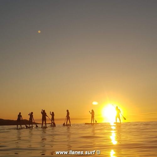 grupo paddle surf escuela llanes
